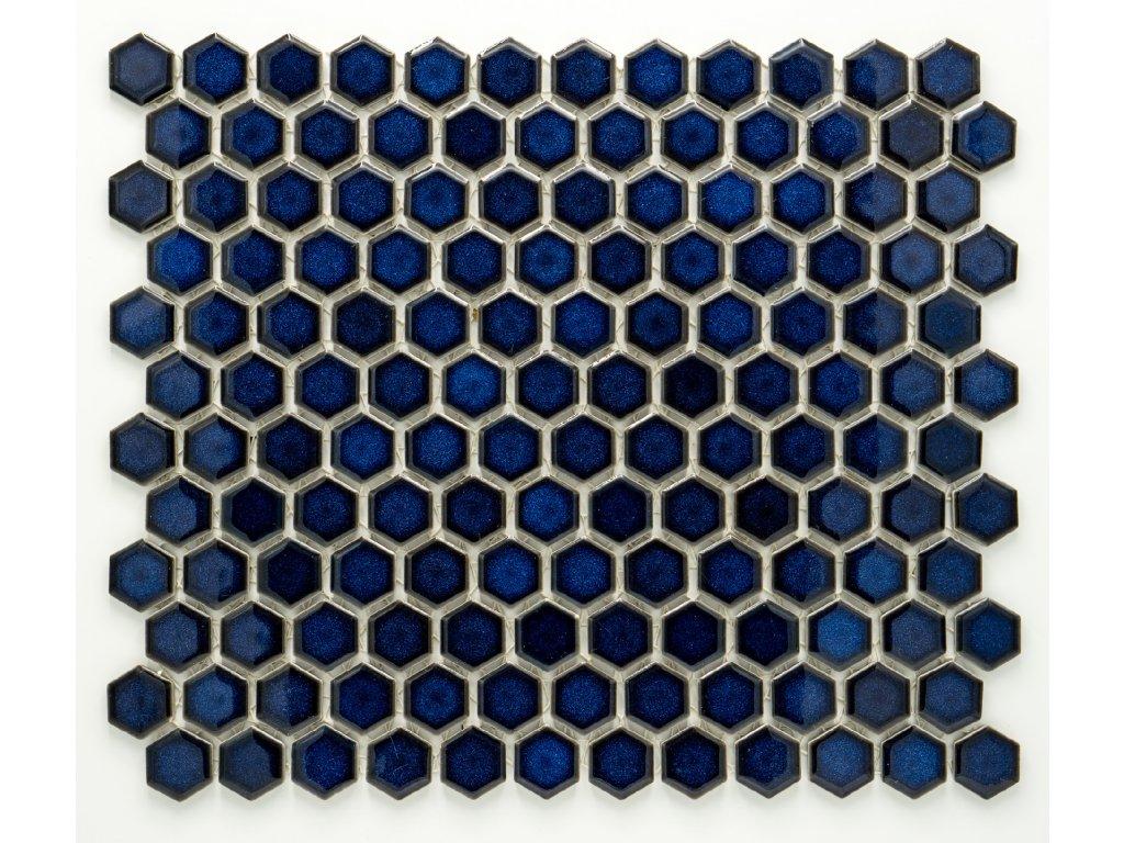 MCH 012 keramická mozaika kobaltová 23x26mm