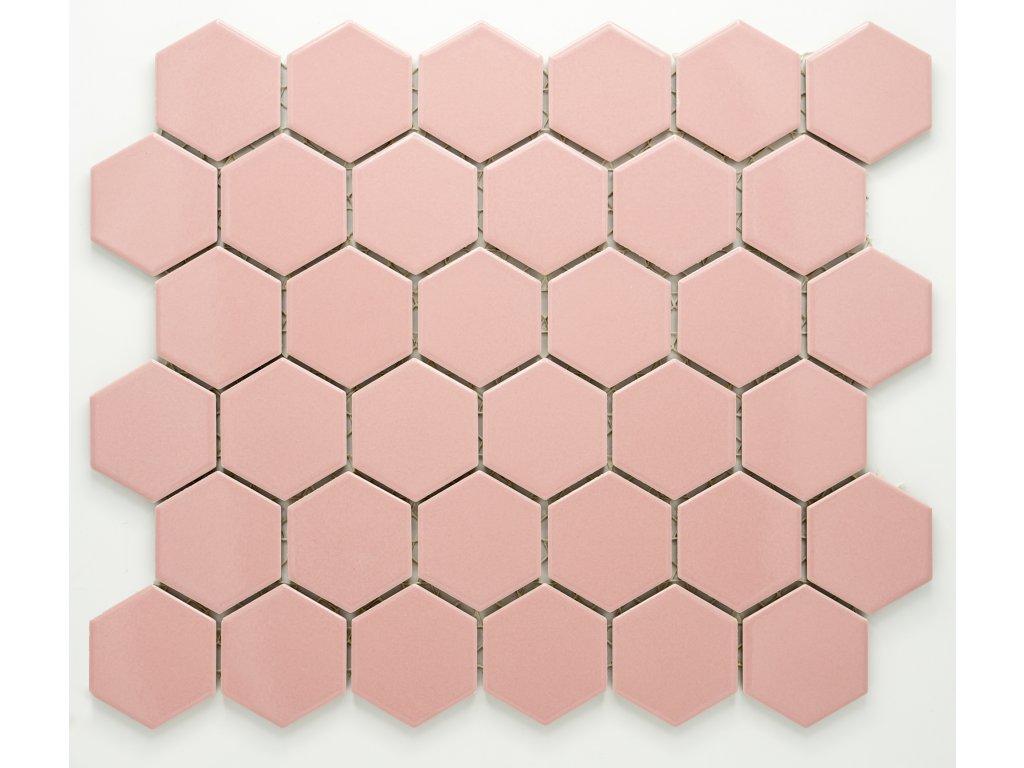MCH 015 keramická mozaika růžová 51x59mm