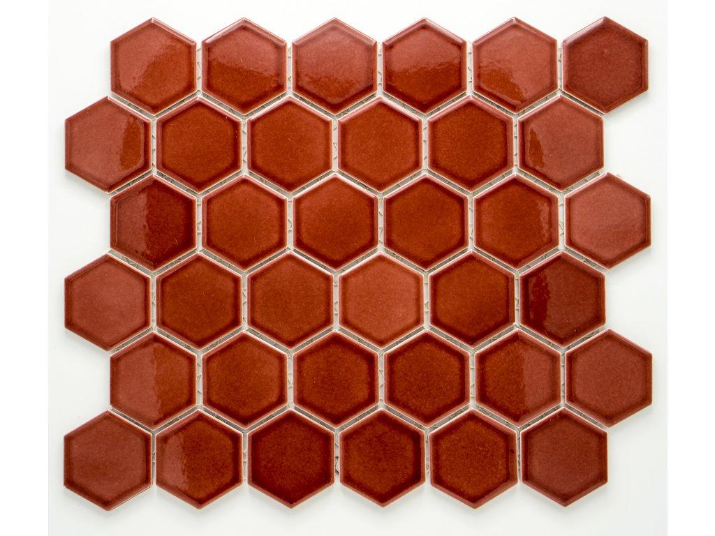 MCH 017 keramická mozaika vínová 51x59mm