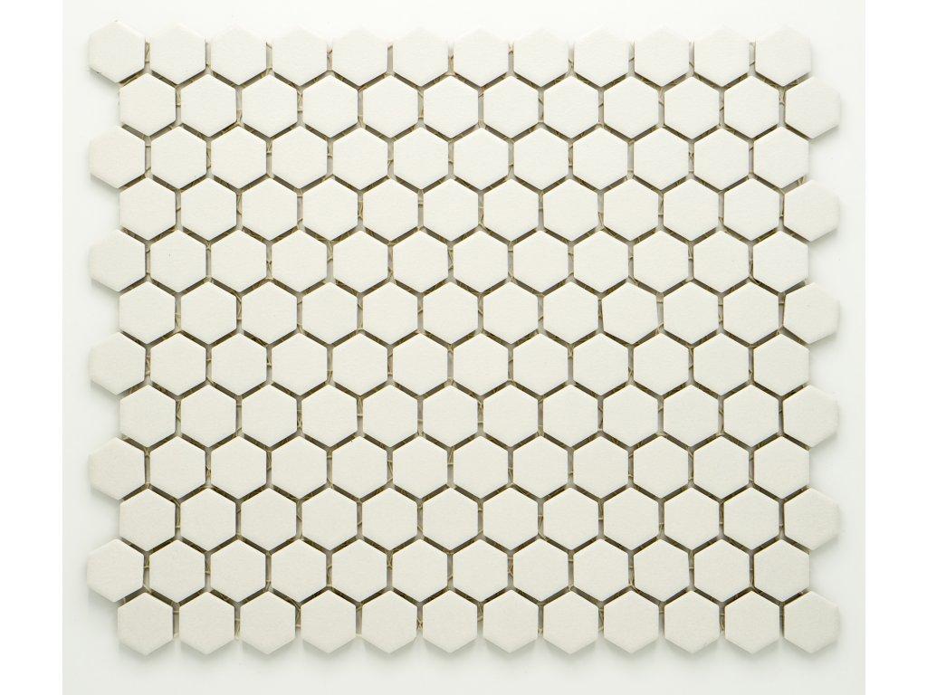 MCH 021 keramická mozaika bílá 23x26mm