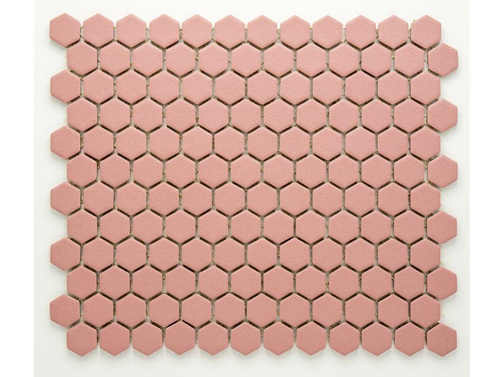 MCH 022 keramická mozaika růžová 23x26mm