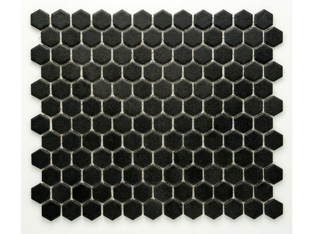 MCH 026 keramická mozaika černá 23x26mm