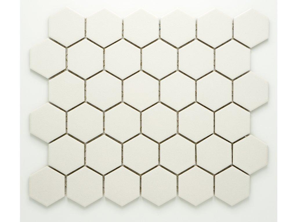 MCH 027 keramická mozaika bílá 51x59mm
