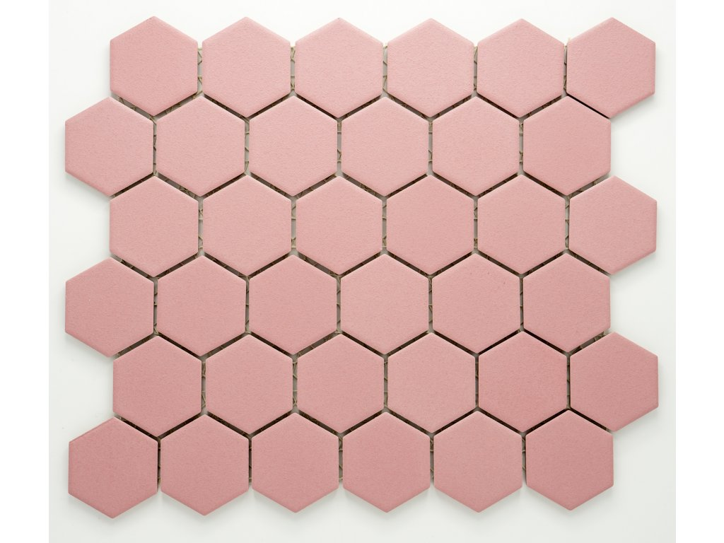 MCH 028 keramická mozaika růžová 51x59mm