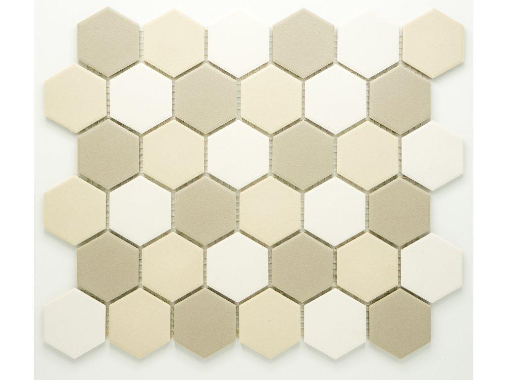 MCH 033 keramická mozaika béžová 51x59mm