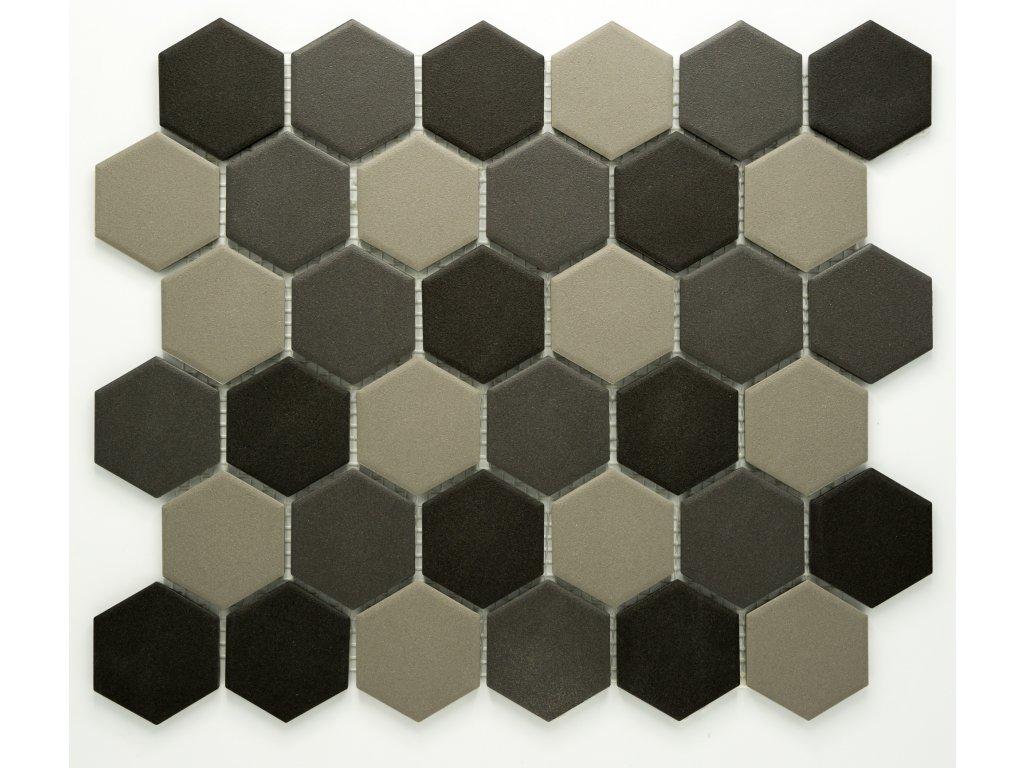 MCH 034 keramická mozaika šedá 51x59mm