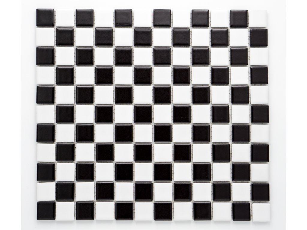 MC25 013 keramická mozaika šachovnice 25x25mm