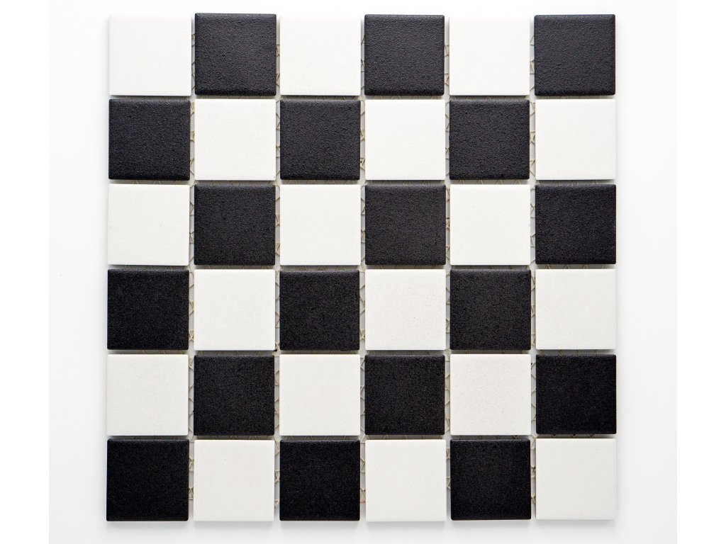 MC48 019 keramická mozaika šachovnice 48x48mm