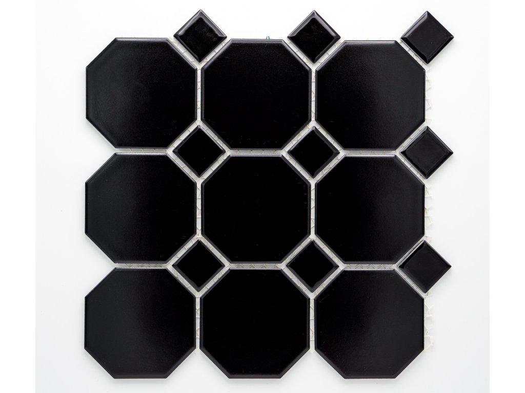 MCO 005 keramická mozaika černá 97x97mm