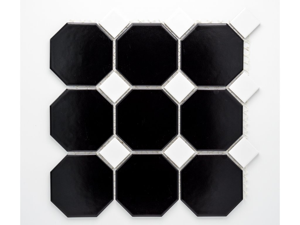 MCO 006 keramická mozaika černá 97x97mm