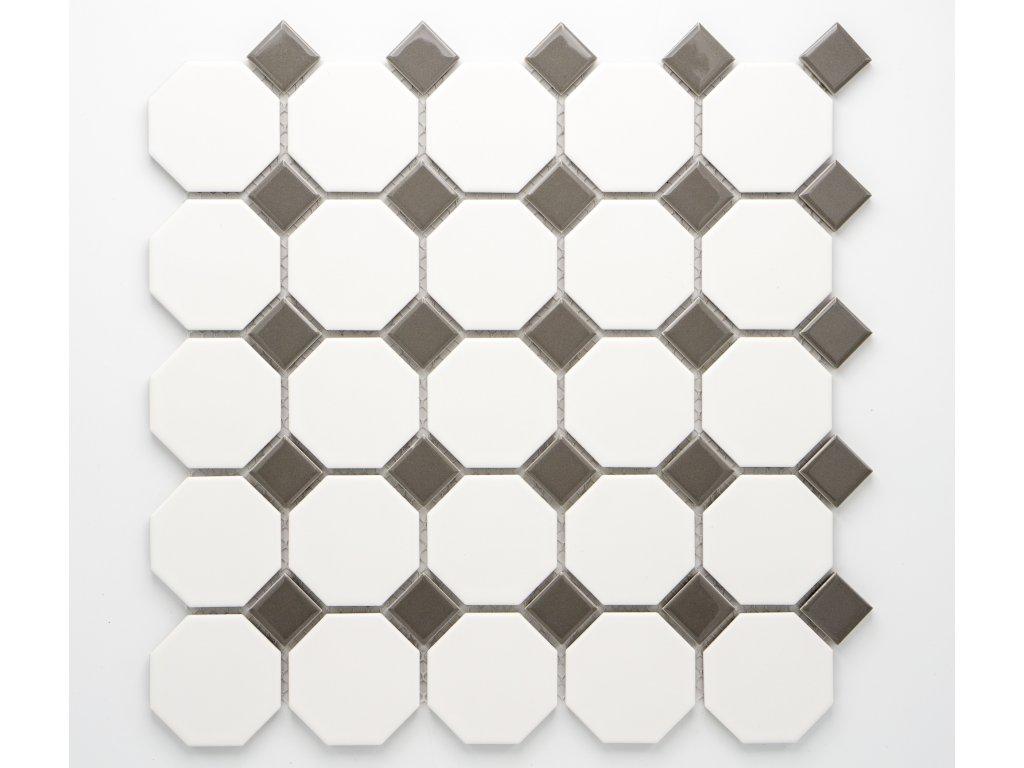 MCO 007 keramická mozaika bílá 56x56mm