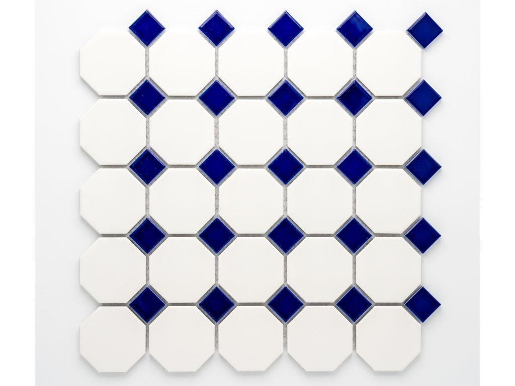 MCO 008 keramická mozaika bílá 56x56mm