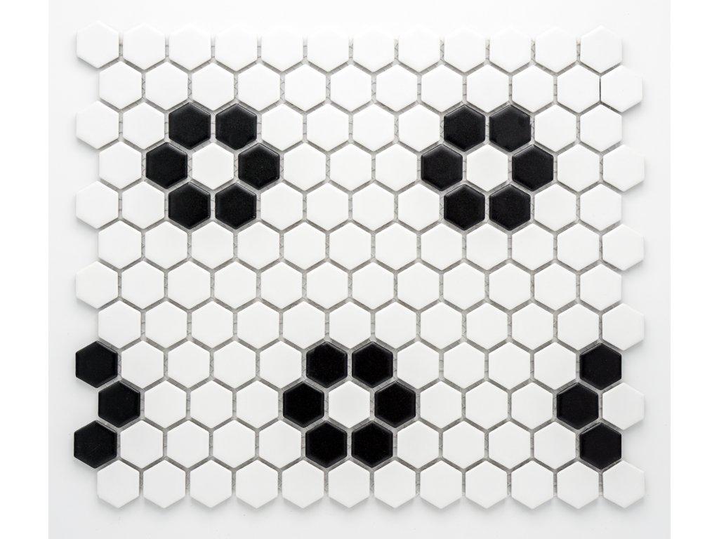 MCH 038 keramická mozaika černá 23x26mm