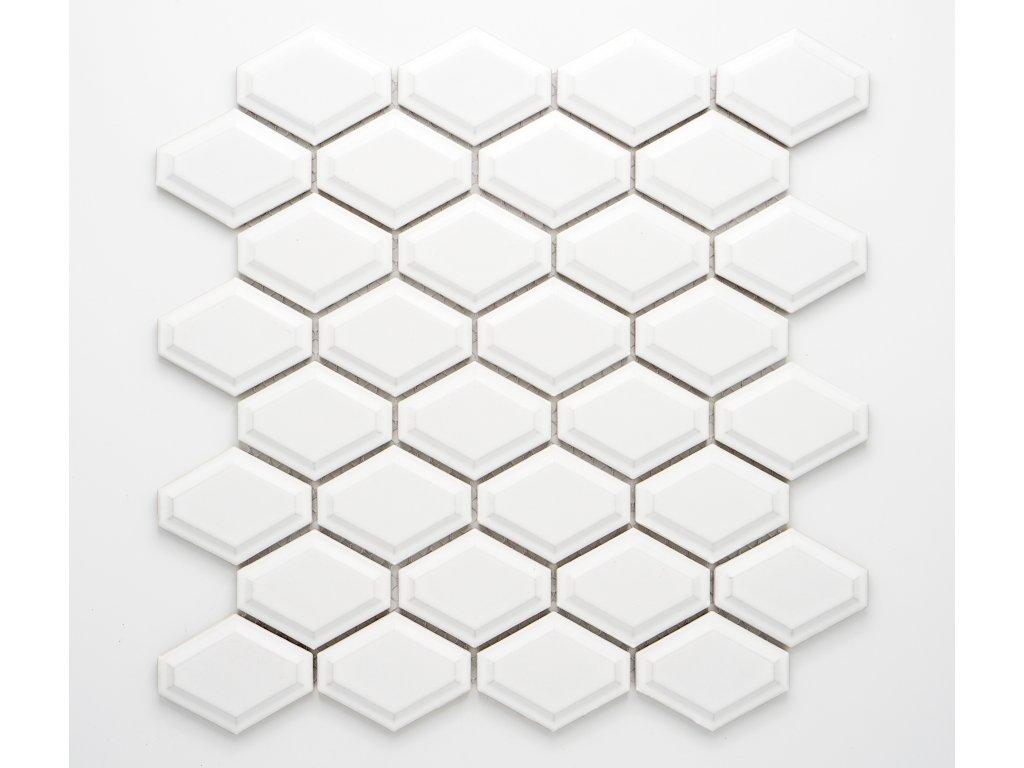 MCS 010 keramická mozaika bílá