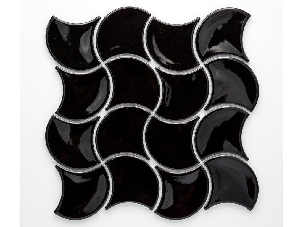 MCS 014 keramická mozaika černá
