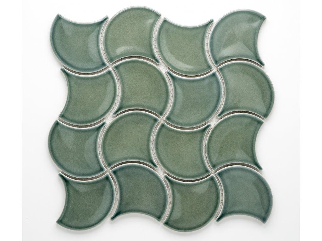 MCS 017 keramická mozaika zelená