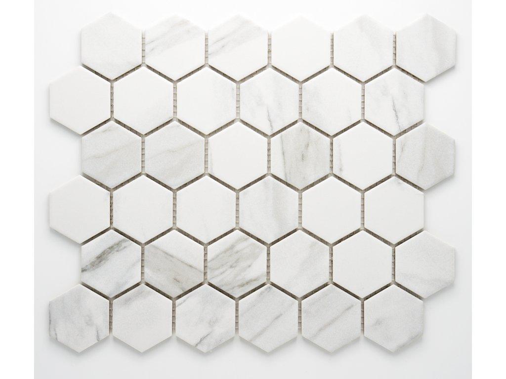 MCH 040 keramická mozaika bílá 51x59mm