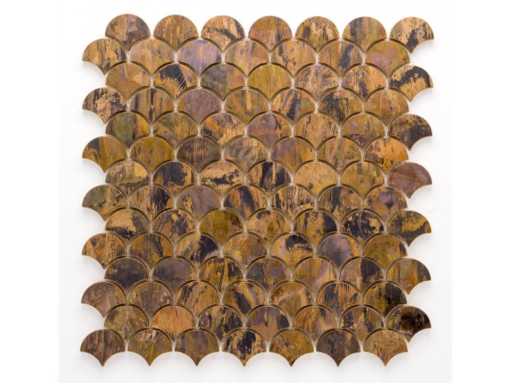 MM 002 měděná mozaika 33x39x8mm