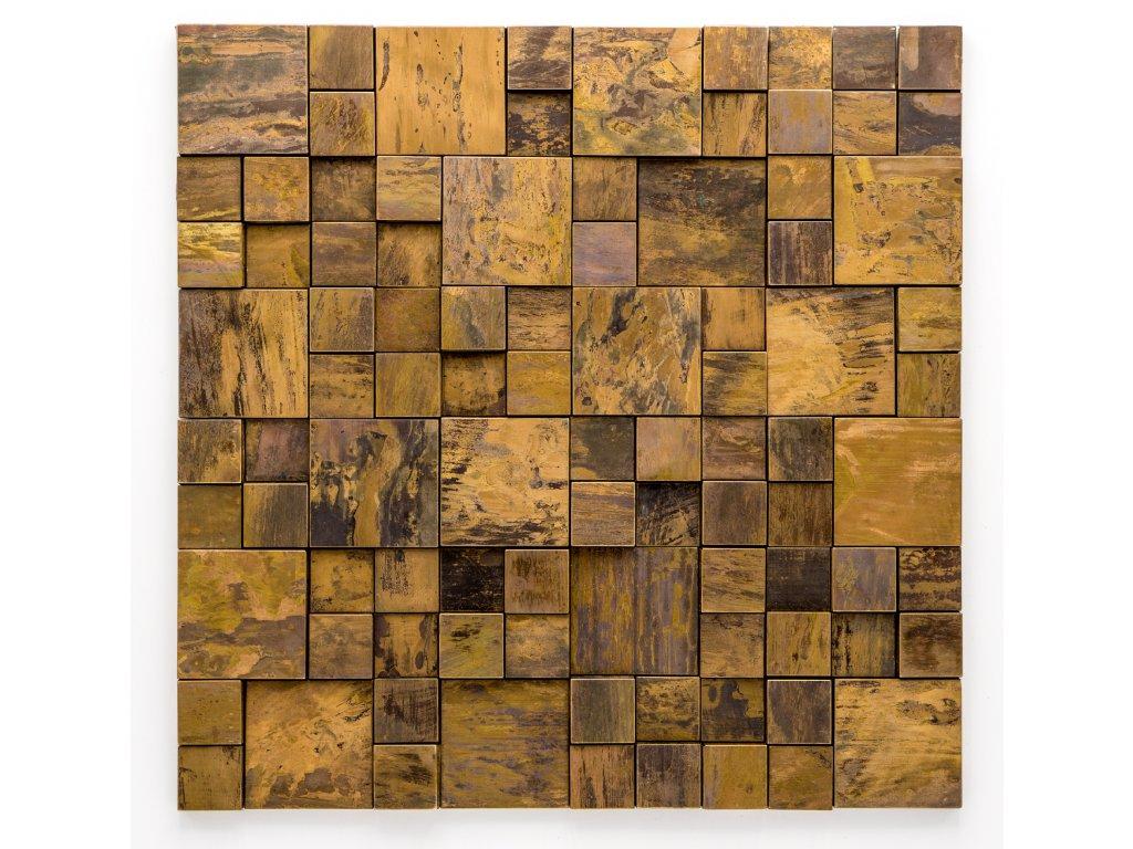MM 003 měděná mozaika 23x23+48x48mm