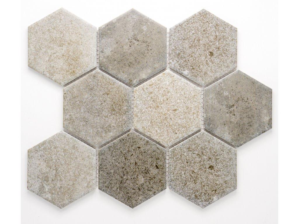 MCH 041 keramická mozaika šedá 95x110mm