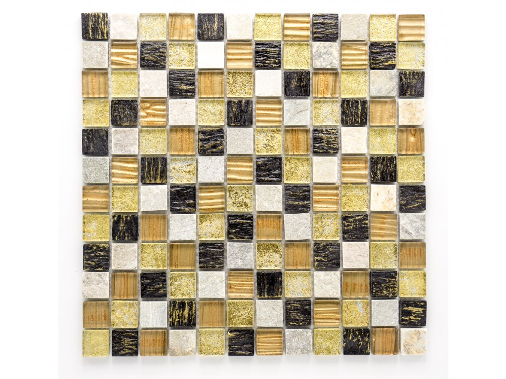 MMIX 001 mozaika, sklo, kámen 23x23mm