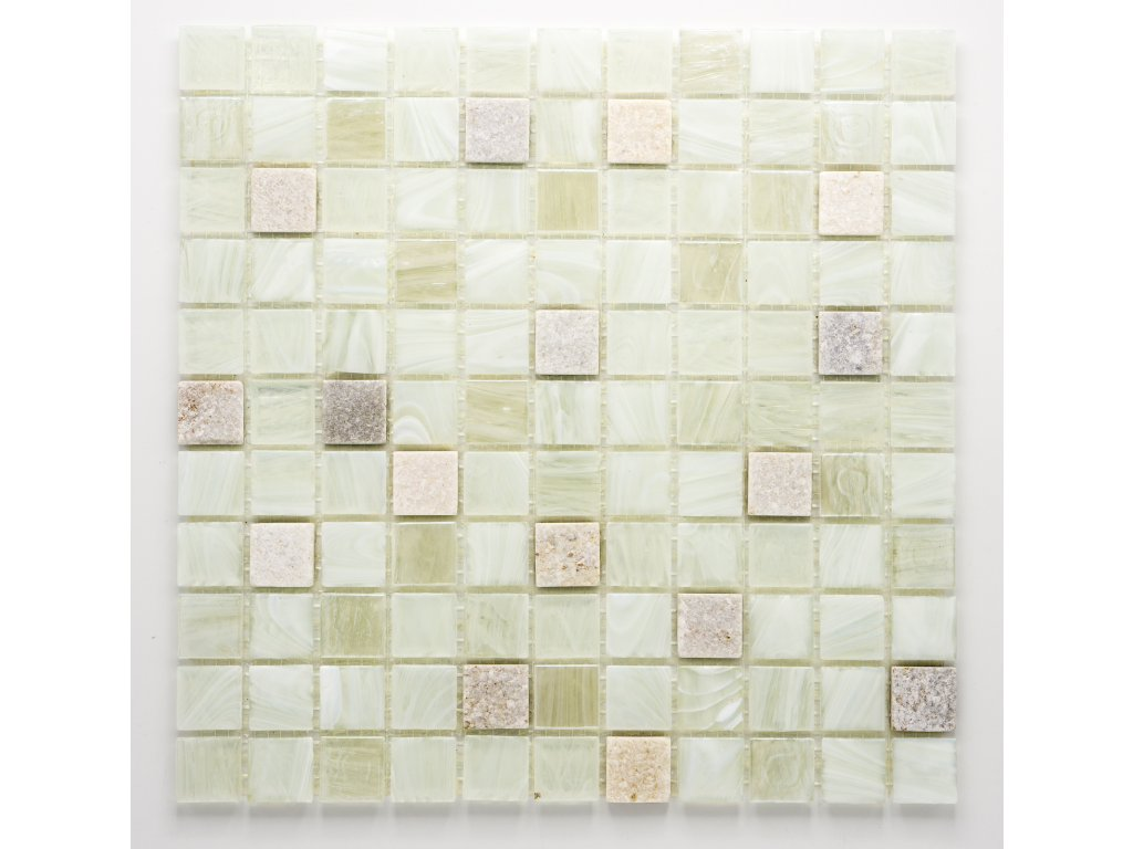 MMIX 003 mozaika, sklo, kámen 25x25mm