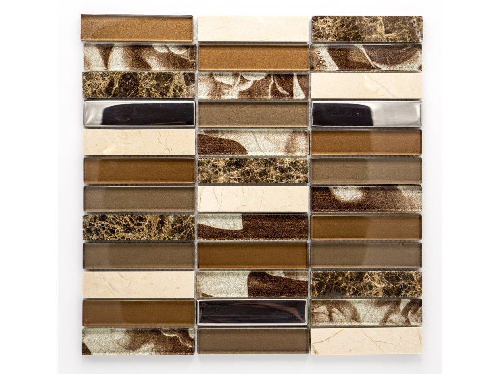 MMIX 006 mozaika, sklo, kámen 23x98mm