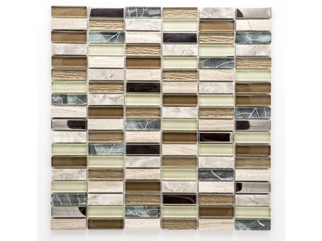 MMIX 008 mozaika, sklo, kámen 15x48mm
