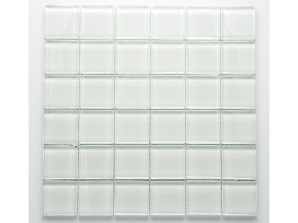 MGC 019 skleněná mozaika bílá 48x48mm