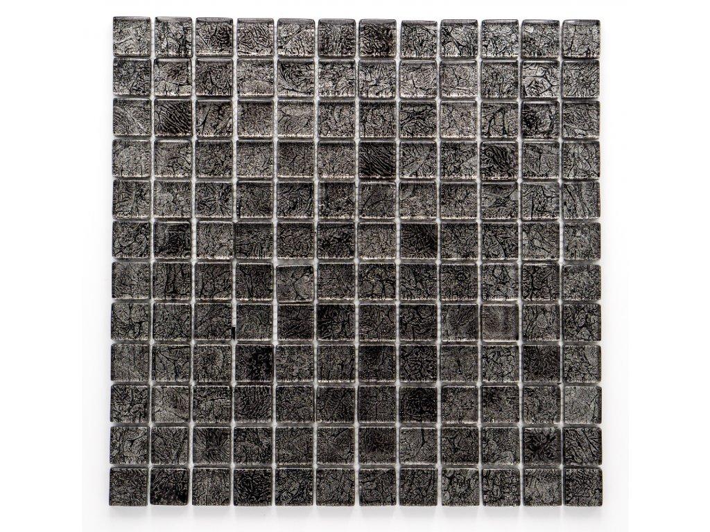 MGC 020 skleněná mozaika stříbrná 23x23mm