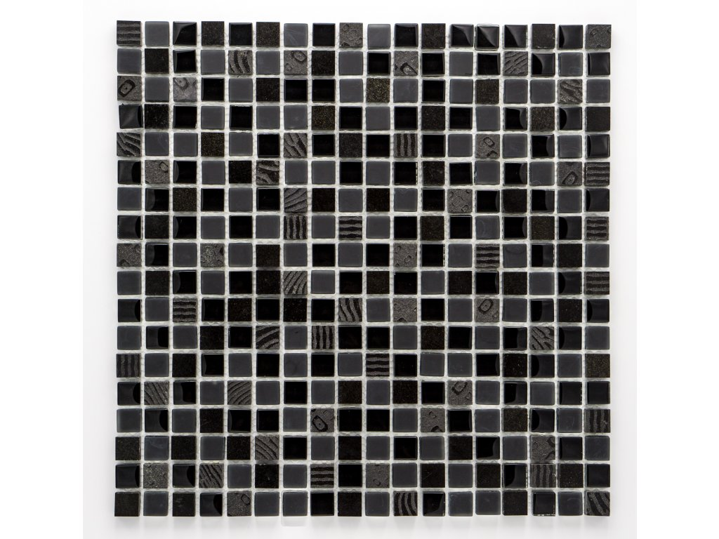 MMIX 011 mozaika, sklo, kámen 15x15mm