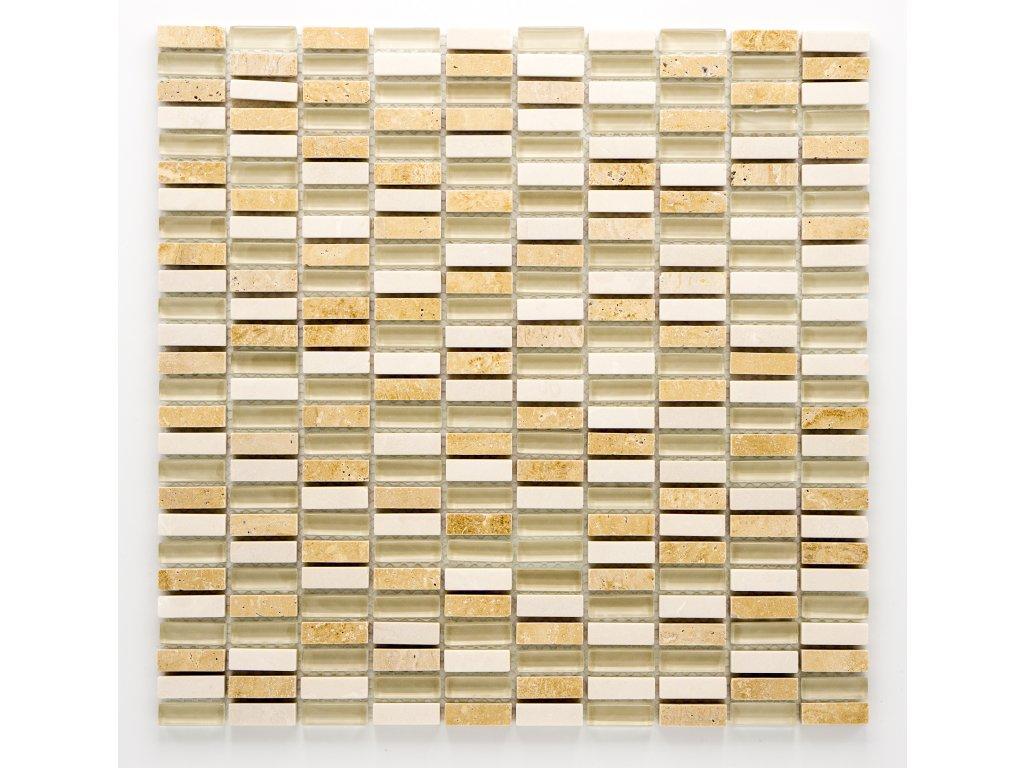 MMIX 012 mozaika, sklo, kámen 10x30mm