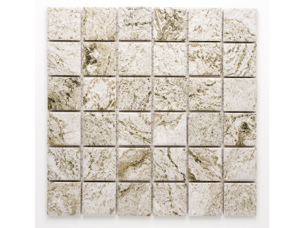 MC48 021 keramická mozaika šedá 48x48mm