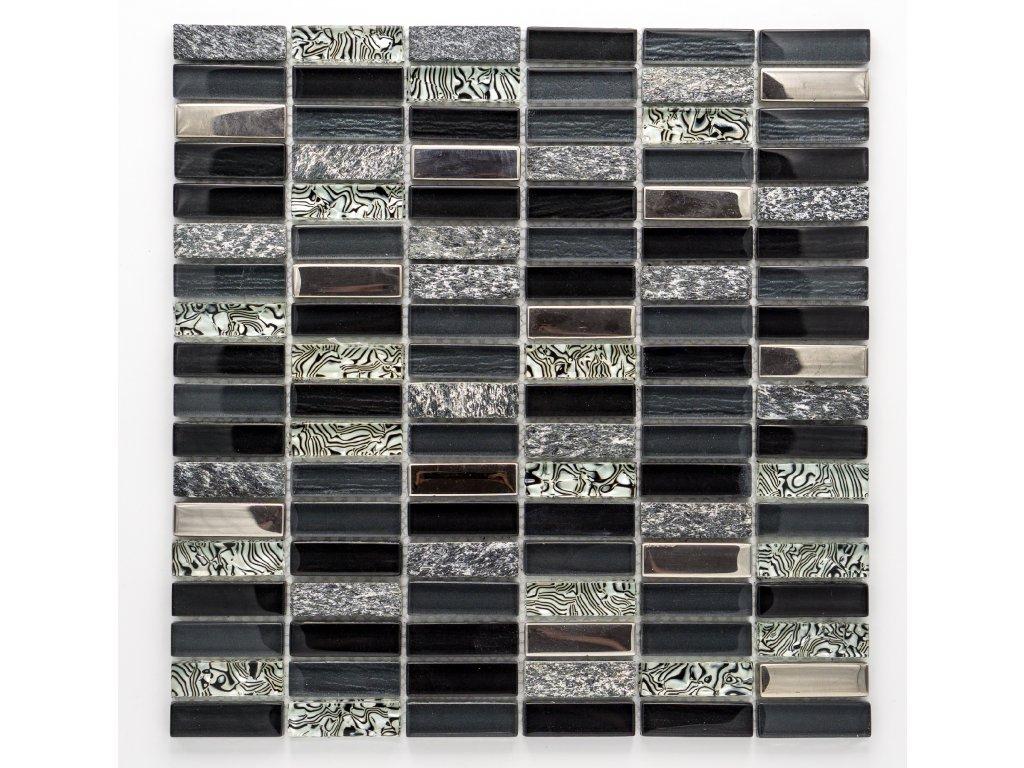 MMIX 016 mozaika, sklo, kámen, 15x48mm