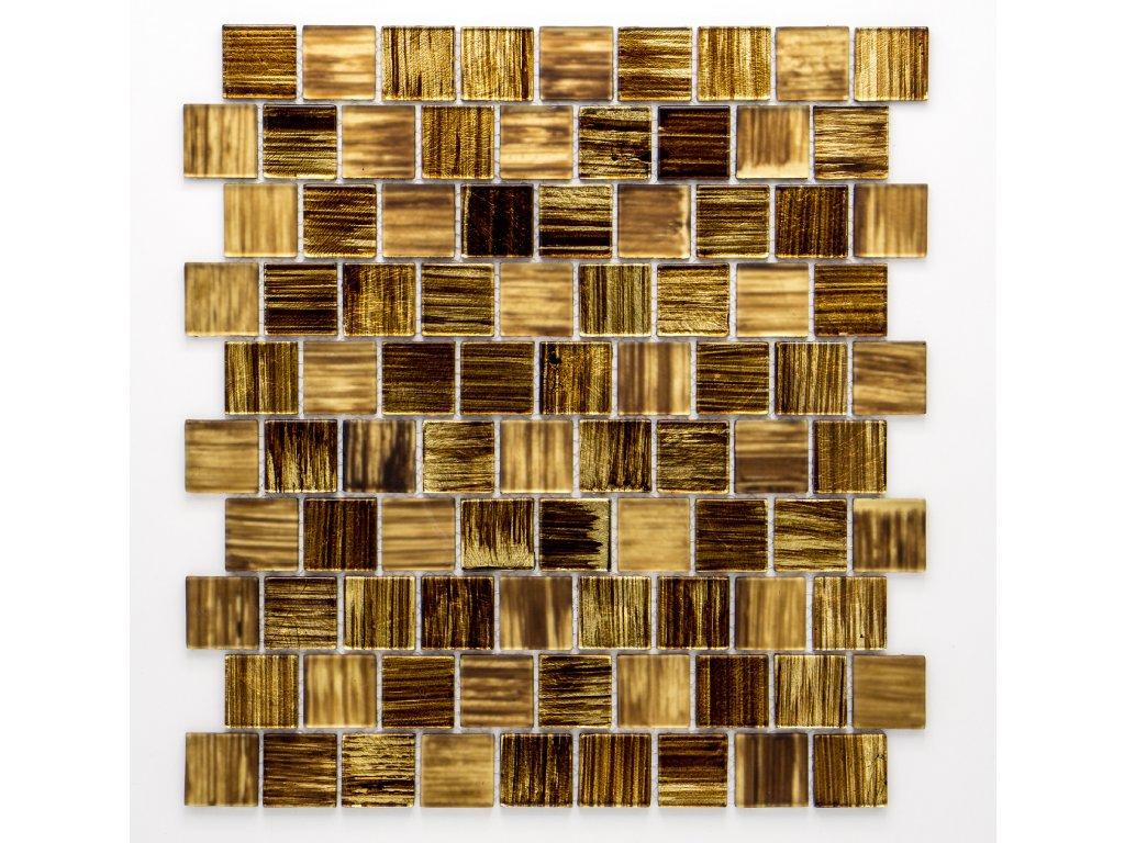 MGC 024 skleněná mozaika zlatá 23x23mm