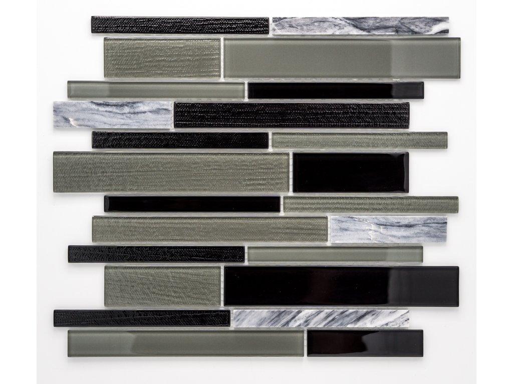 MMIX 019 mozaika, sklo, kámen, 15x14+23x98/198+35x98/198mm