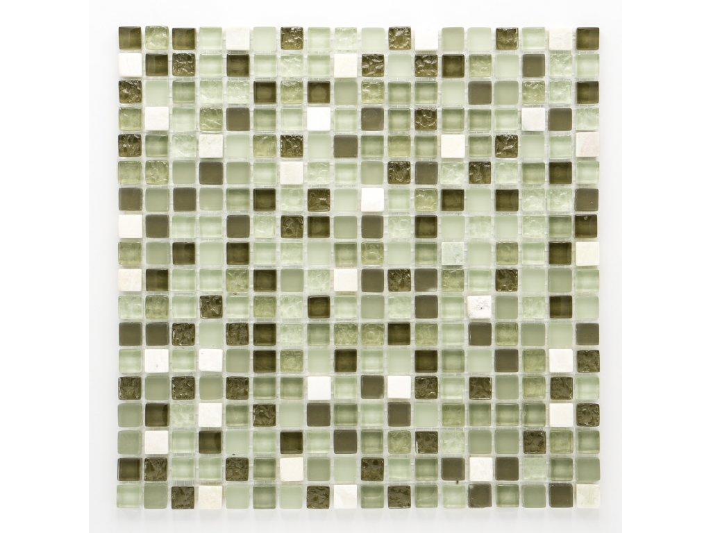 MMIX 020 mozaika, sklo, kámen 15x15mm