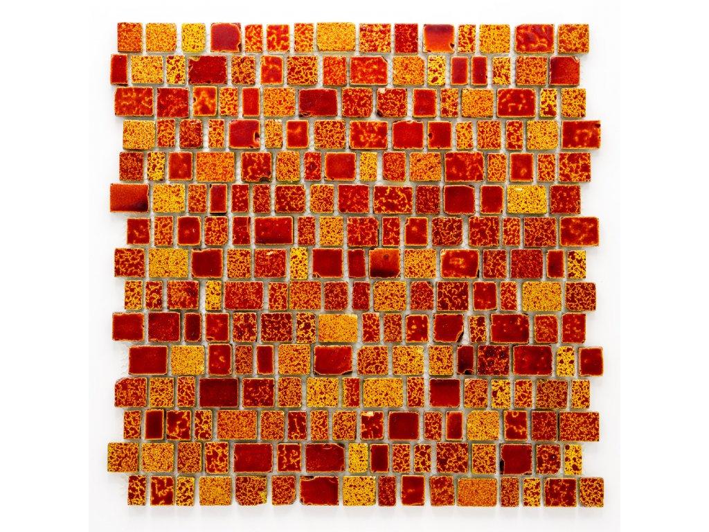 MGC 025 skleněná mozaika červená 12/15/20/25x18x8mm