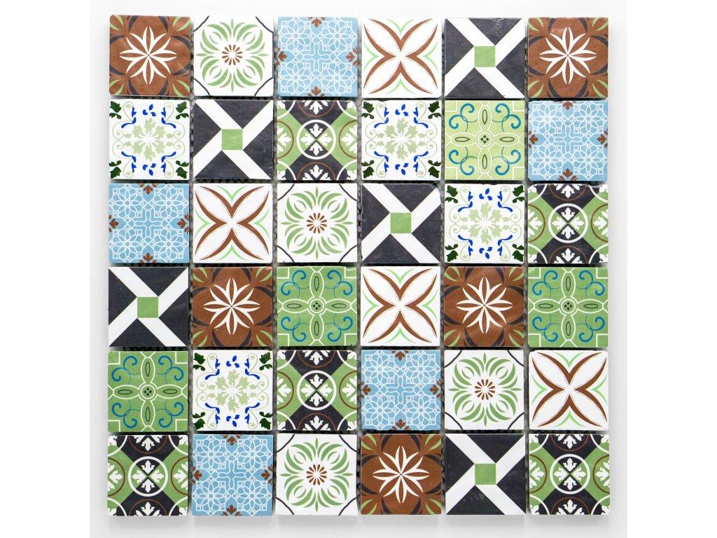MGC 027 skleněná mozaika 48x48mm