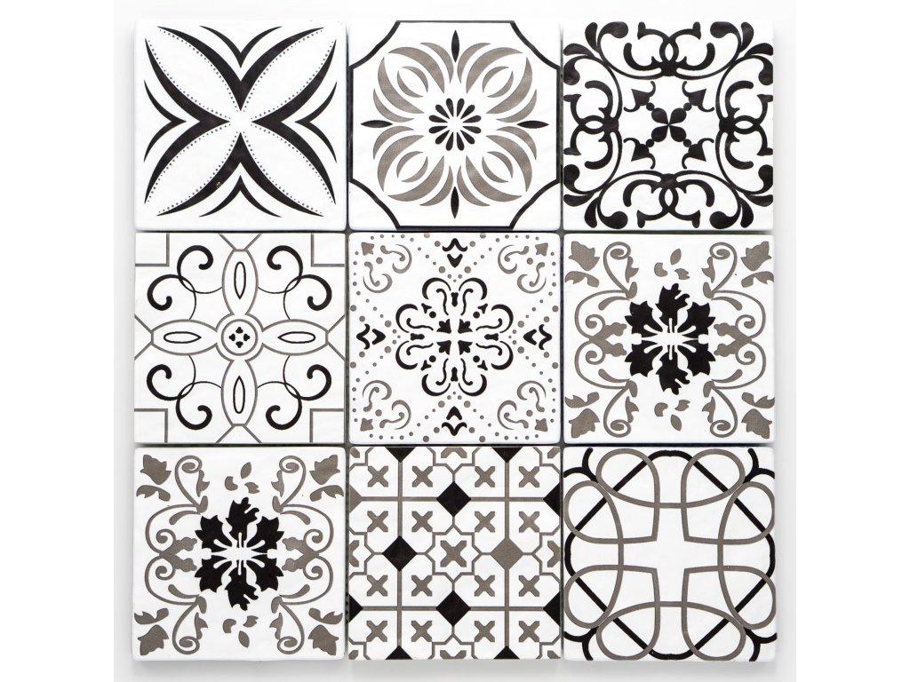 MGC 028 skleněná mozaika 98x98mm