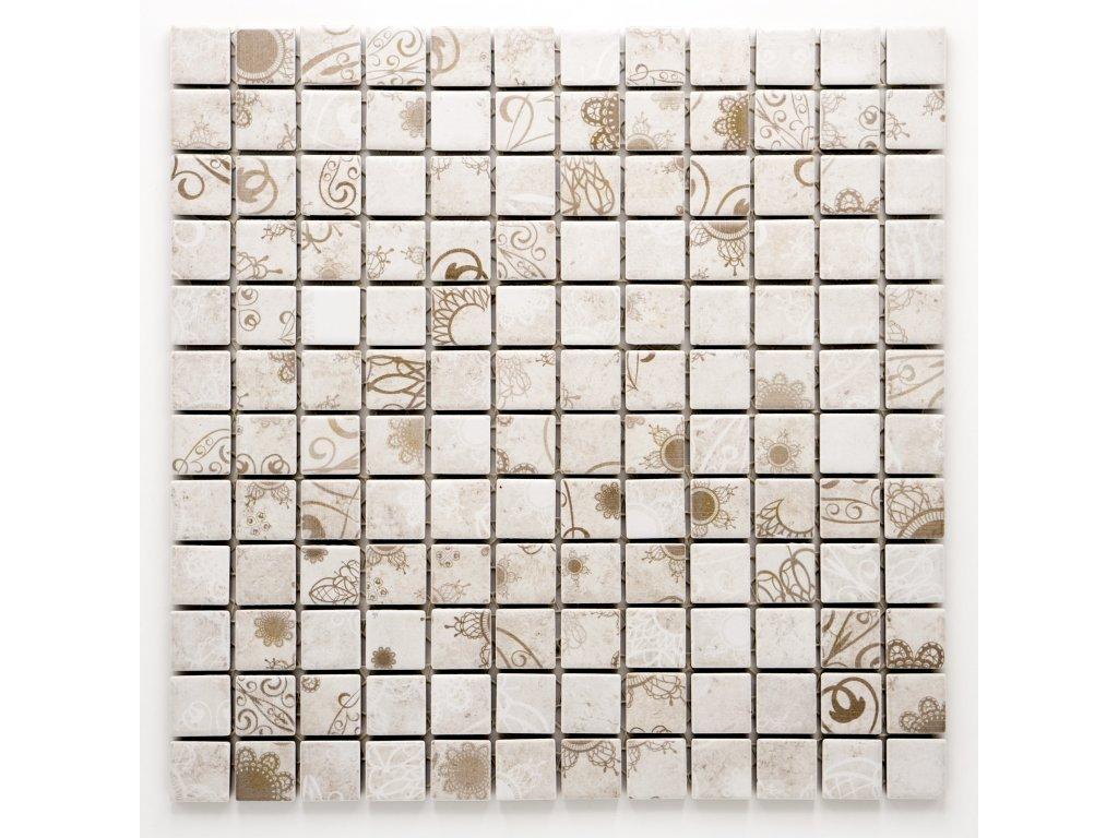 MC23 015 keramická mozaika šedobéžová 23X23mm
