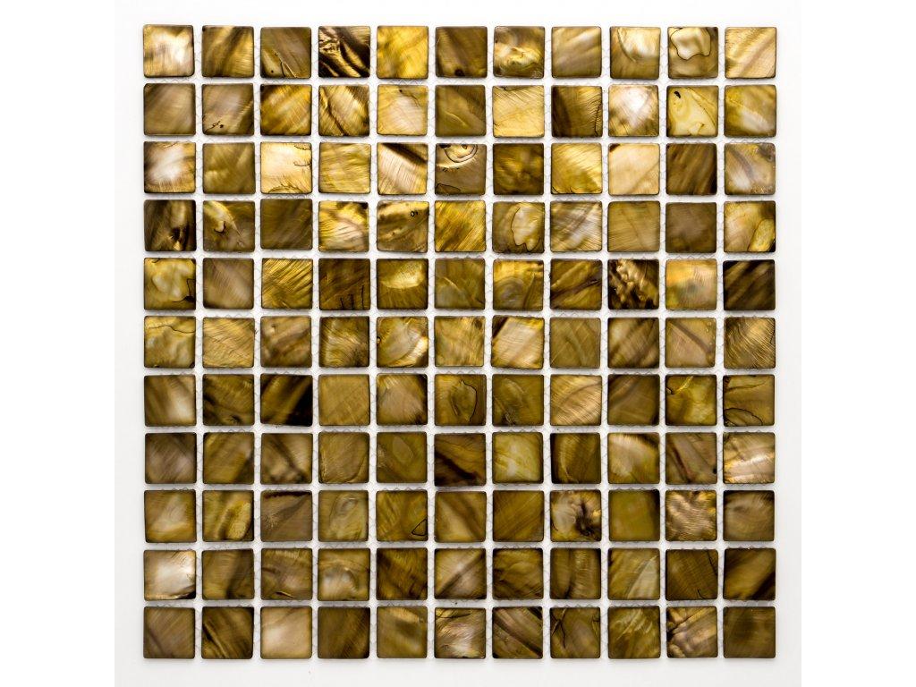 MSH 005 mozaika perleťová medová 25x25mm