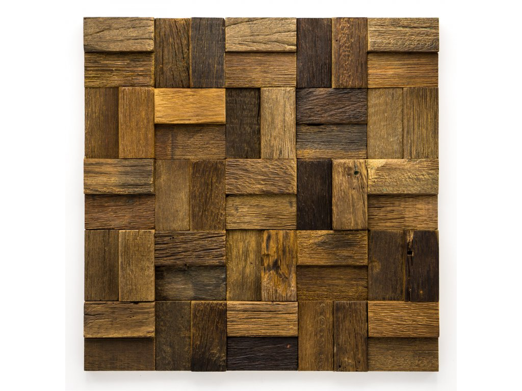 MW 003 dřevěná mozaika 30x60mm