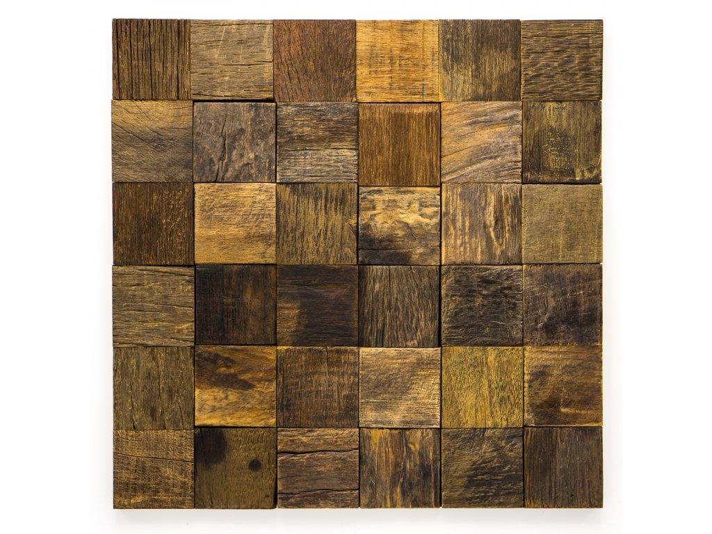 MW 004 dřevěná mozaika 50x50mm