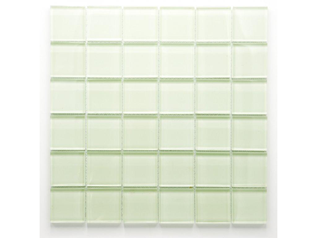 MGC 038 skleněná mozaika fosforeskující bílá 48x48mm