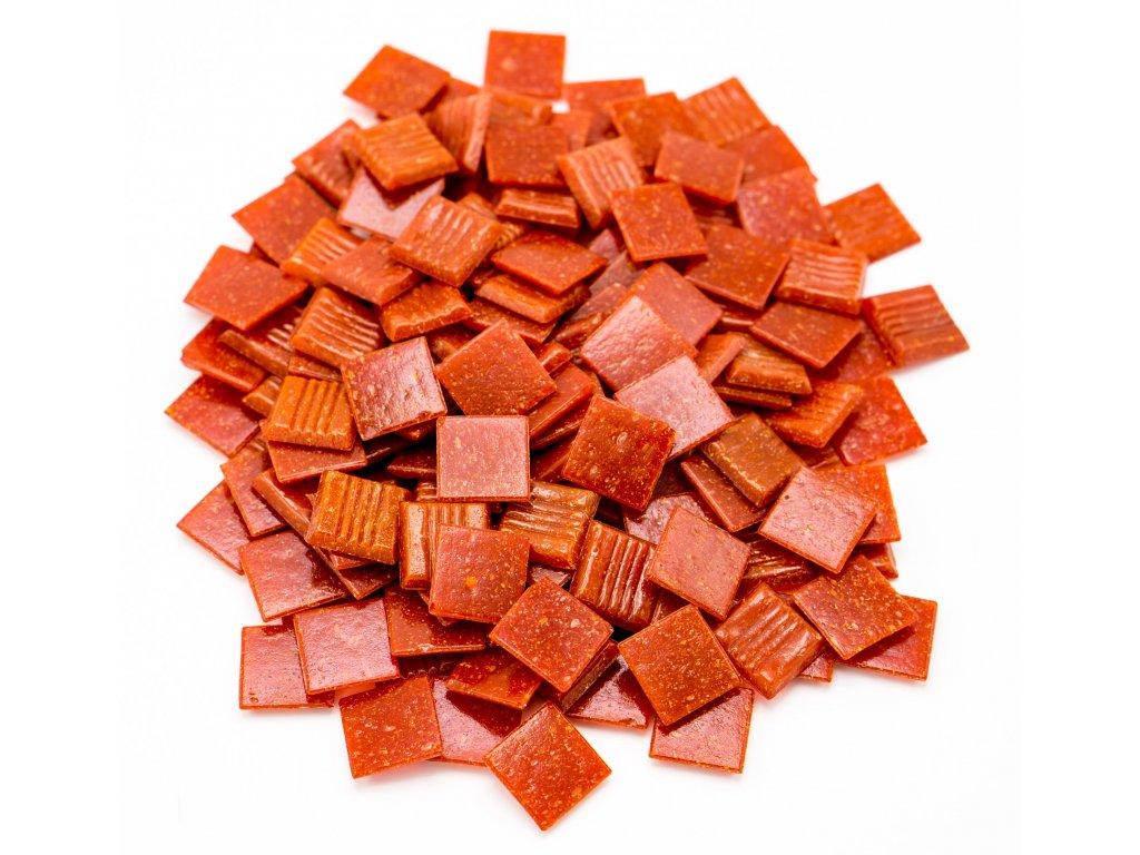 CM 012 mozaika skleněná červená 20x20mm 250g