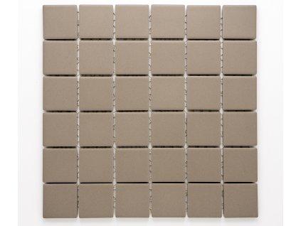 MC48 002 keramická mozaika hnědá 46,5x46,5mm