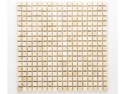 MS 002 kamenná mozaika béžová 15x15mm