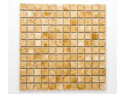 MC23 011 keramická mozaika krémová 23X23mm