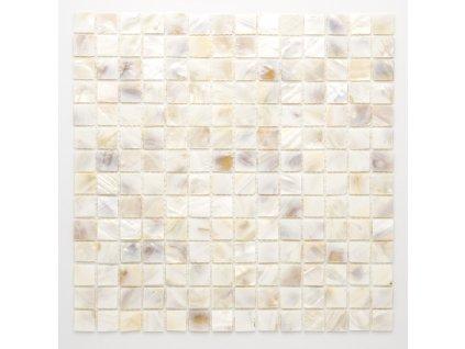 MSH 003 mozaika perleťová světlá 20x20mm
